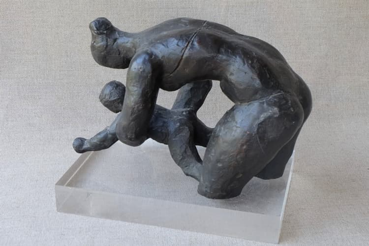 Primera clase de natación - Joaquín García Donaire - Escultor