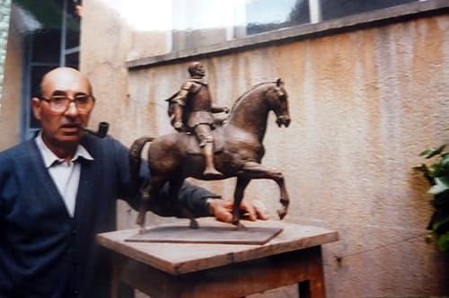 Joaquín García Donaire en su estudio
